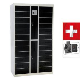 Laptopschrank Locker24 mit schweizer Steckdosen