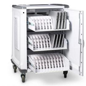 Laptopwagen Smartcharge IT 32 - Intelligentes Ladesystem - 32 Laptops/Tablets gleichzeitig & effizient laden