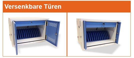 Tabletschrank - Safelocker 12 - Eurostecker - Tablet-Schrank für Schulen